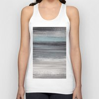 the strokes Tank Tops featuring Stripes & Strokes by Allison Kiloh
