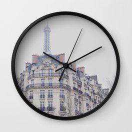 Paris photography, Eiffel tower, Saint-Germain-des-Prés, Paris architecture, boulevard Wall Clock