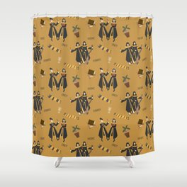 Hufflepattern Shower Curtain
