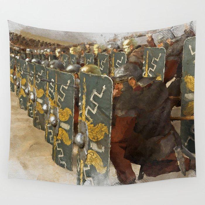 Roman Legion in Battle Wall Tapestry
