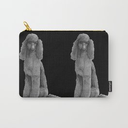 Poodle - standard black Carry-All Pouch