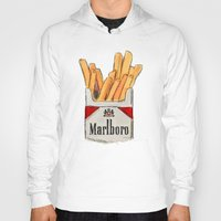 fries Hoodies featuring Fries by Sara Eshak