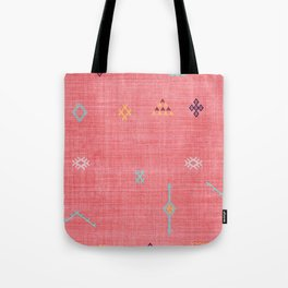Cactus Silk Pattern in Pink Tote Bag