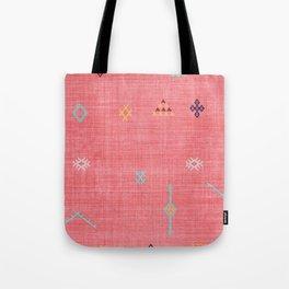 Cactus Silk Pattern in Pink Tote Bag