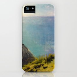 Abbott Handerson Thayer - Cornish Headlands (1898) iPhone Case