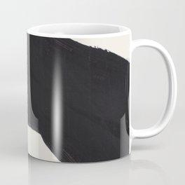Mid Century Modern Minimalist Abstract Art Brush Strokes Black & White Ink Art Color Field Maze Coffee Mug