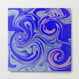 Abstract blue/pink trip Metal Print