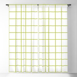 Grid Pattern Chartreuse Blackout Curtain