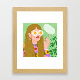 Smoking Girl Framed Art Print