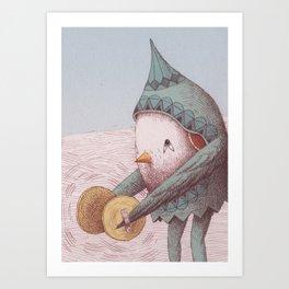 Cymbal Bird Art Print