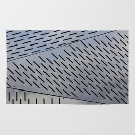 Metal shapes with line notches Rug