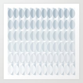 Leaves in the mist - a pattern in ice gray Art Print