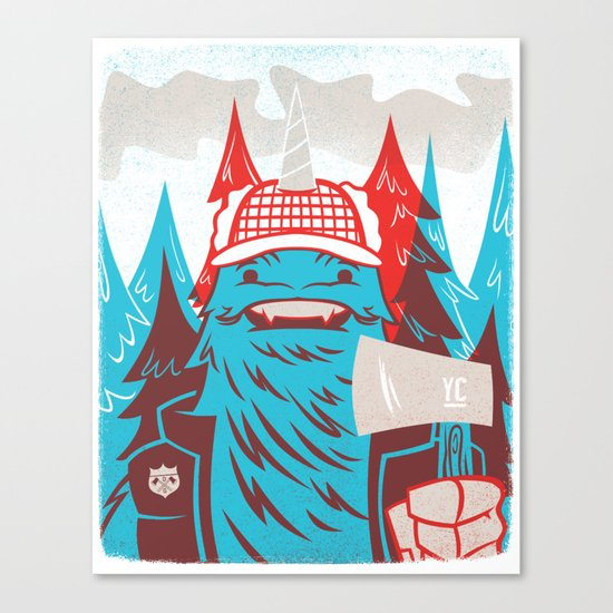 Cornelius : Lumberjack Canvas Print
