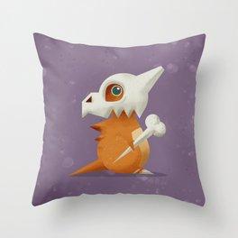 104 Cubone Throw Pillow