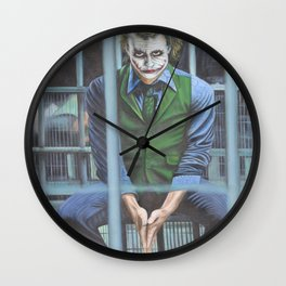 The Joker, Oil On Canvas Painting Wall Clock