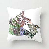 canada Throw Pillows featuring Canada by minouette