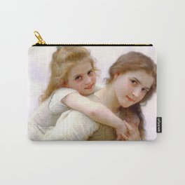 """William-Adolphe Bouguereau """"Not Too Much To Carry"""" Carry-All Pouch"""