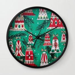 Pretty Retro Christmas Wall Clock