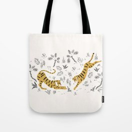 Tiger Dive Tote Bag