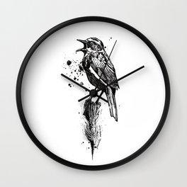Birds/Prunella Modularis Wall Clock