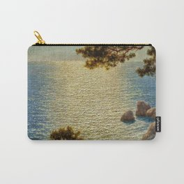 Classical Masterpiece 'Amalfi Coast, Italy' by Ivan Fedorovich Choultse Carry-All Pouch