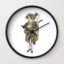 Pirate cat musician p Wall Clock