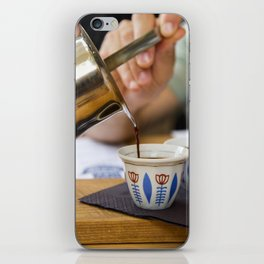 Pouring Turkish coffee iPhone Skin