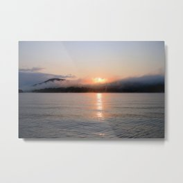 Reborn: Sunrise on Lake George Metal Print