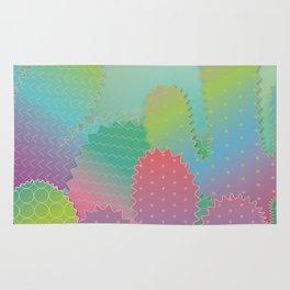 Colorful Summer Cacti Garden Rug
