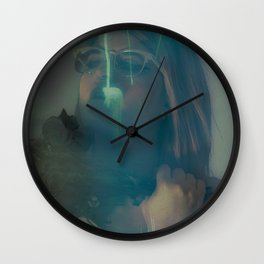 A Fawn's Dark Eyelids I Wall Clock