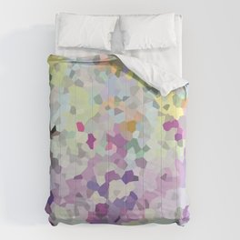Multi mint and violet crystalized  Comforters