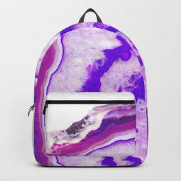 Pink Violet Agate #1 #gem #decor #art #society6 Backpack