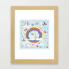 Sky Atlantic Framed Art Print
