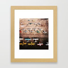 Squadron of Bush Pilots, Alaska Framed Art Print
