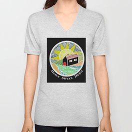 House of Lines Home Sweet Home Lime Unisex V-Neck