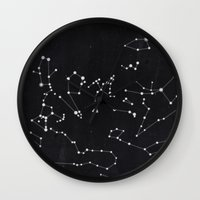 constellation Wall Clocks featuring Constellation by Mille Dørge