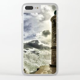 Marseille Lighthouse Old Port Wave Photograph Clear iPhone Case