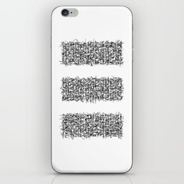 tri white iPhone Skin