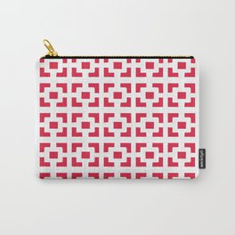 Red Tile pattern Carry-All Pouch