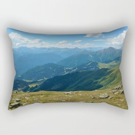 panorama on adventure park hög alps serfaus fiss ladis tyrol austria europe Rectangular Pillow