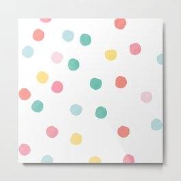 Watercolour spots in multicolour Metal Print