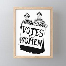 Votes for women Framed Mini Art Print