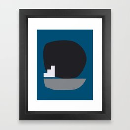 Shape study #4 - Stackable Collection Framed Art Print