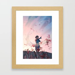 Being The Leaf Framed Art Print