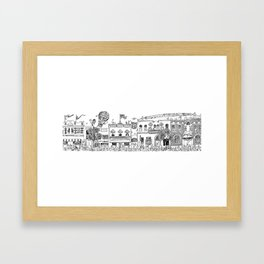 Main Street Framed Art Print