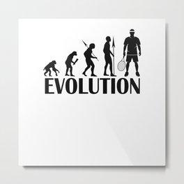 Tennis Design Evolution Metal Print