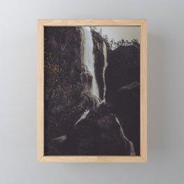 Autumn Waterfall Framed Mini Art Print