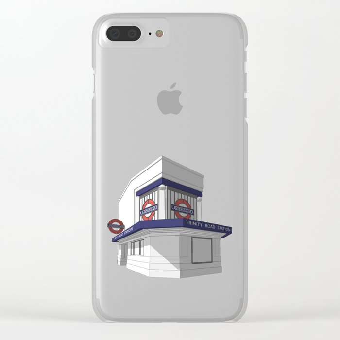 Trinity Road (Tooting Bec) Clear iPhone Case