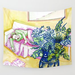 Rest After Laundry Wall Tapestry