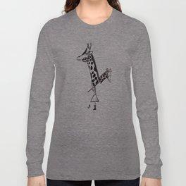 Giraffe Girl Long Sleeve T-shirt